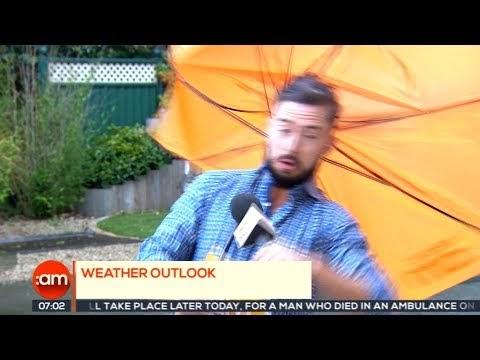 Weatherman gets blown away