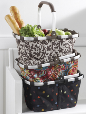 collapsible market totes in 3 patterns
