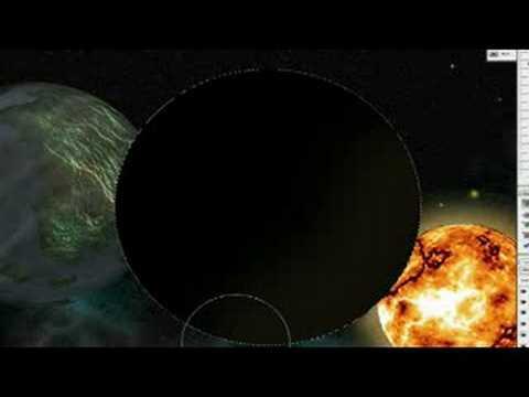 Photoshop Eğitimi Sahne Alanı Photoshop Uzay Sahne Için Gezegen