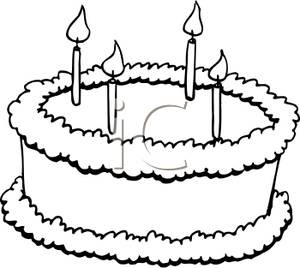 Birthday Cake With Candles Public Domain Vectors