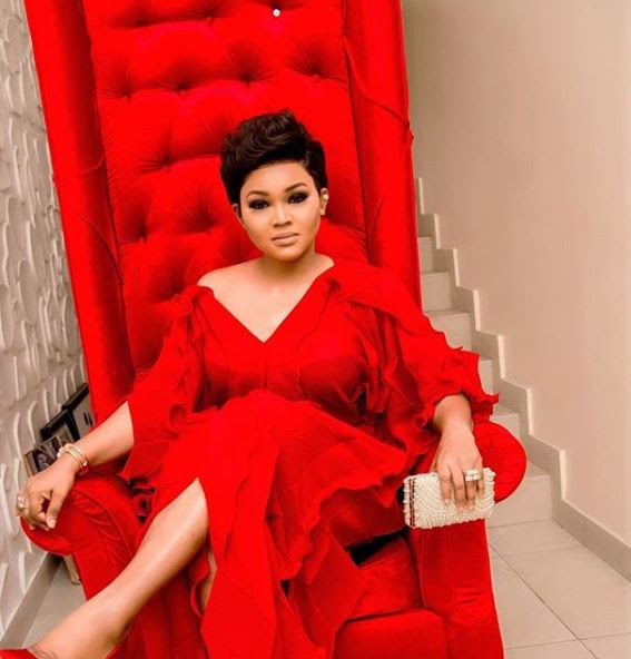 Mercy Aigbe Looks Gorgeous In Red Dress, You Won't Believe She's 40 (Photos)