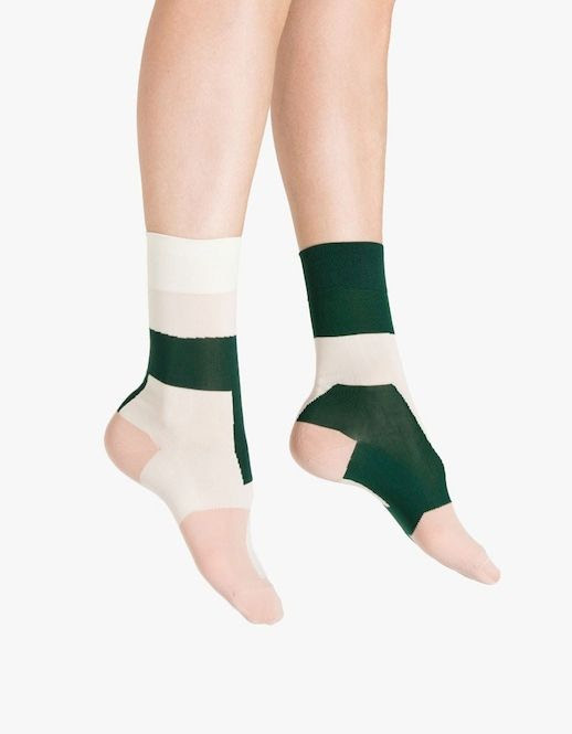 Le Fashion Blog Green White And Pale Pink Hansel From Basel Socks Via Need Supply