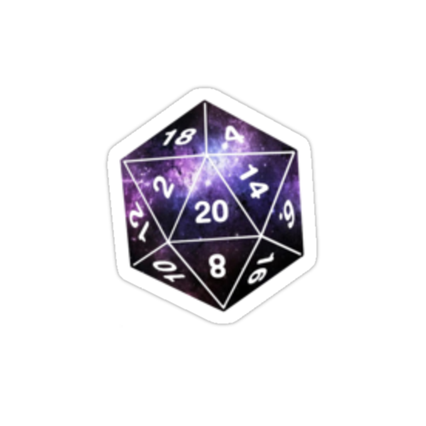 """""""Galactic D20, version 2"""" Stickers by littlelionbabe ..."""