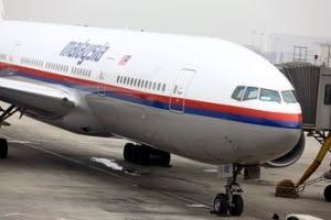 Ένα παρόμοιο αεροπλάνο της Μαλαισίας με το Boeing που συνετρίβη.