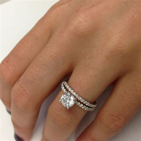 1.21 CARAT VS WEDDING DIAMOND ENGAGEMENT RING ROUND 18K