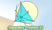 Problema 21: Triángulo acutángulo, Ortocentro, Diámetro, Tangente, Colineal.
