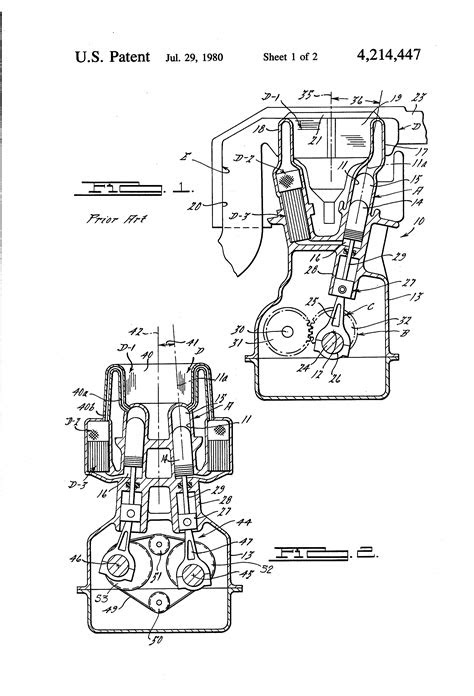 Patent US4214447 - Dual-crank Stirling engine with quad