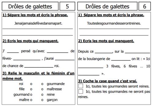 PROJET : GALETTE DES ROIS CP