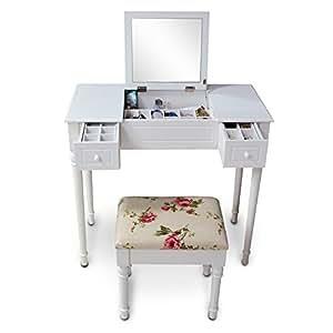 Amazon.com - Organizedlife White Vanity Dressing Table ...
