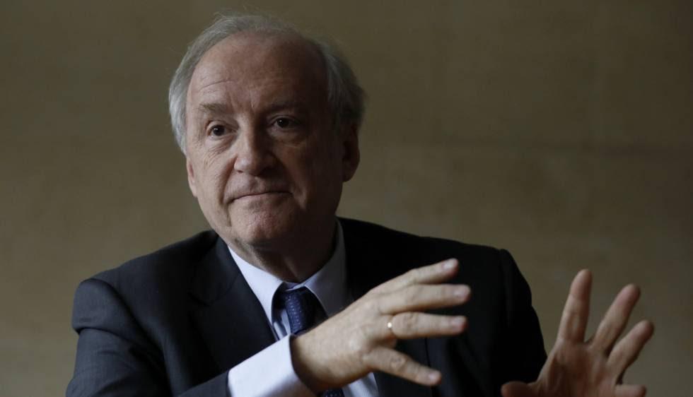 El exministro francés de Exteriores Hubert Védrine, este viernes en Madrid.