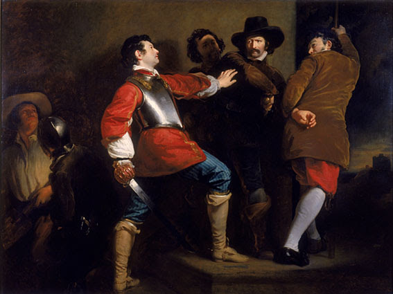 El descubrimiento de la conspiración de la pólvora y la Toma de Guy Fawkes de Henry Perronet Briggs (1823)