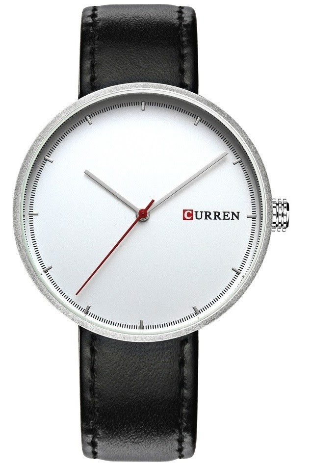 Reloj Clásico CURREN 8223 Dial Blanco - en Plateado, Dorado y Negro