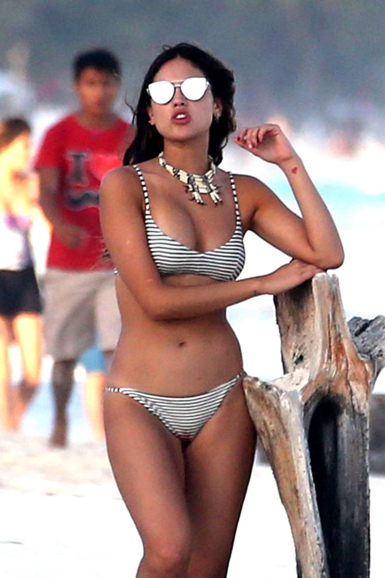 Eiza Gonzalez in Bikini on the beach in Mexico