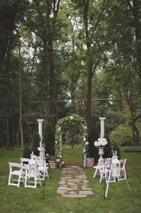 small michigan backyard wedding mccarter wedding