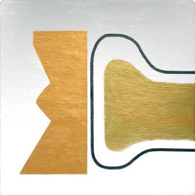 形色對話 150x150 金屬粉末、漆 2007
