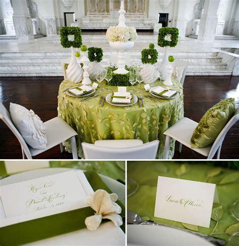 Green   White Wedding Ideas