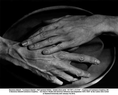 "Berenice Abbott - ""Cocteau's Hands"", 1927 (printed 1970s) by artimageslibrary"