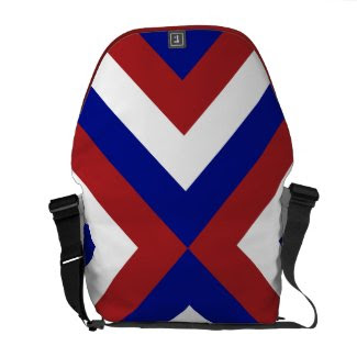 Red, White, and Blue Chevrons rickshaw_messengerbag