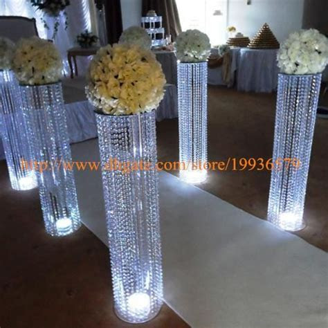 Cheap /3fttall Acrylic Wedding Decoration Crystal Walkway