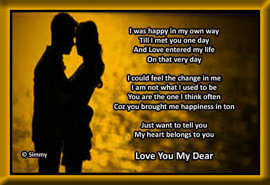 My Heart Belongs To You My Dear Free Madly In Love Ecards 123