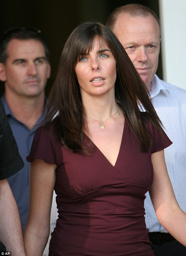 Court appearance: Ms Lees pictured in 2005 leaving the the Northern Territory Supreme Court in Darwin, where her evidence helped to convict drifter Bradley Murdoch of murder