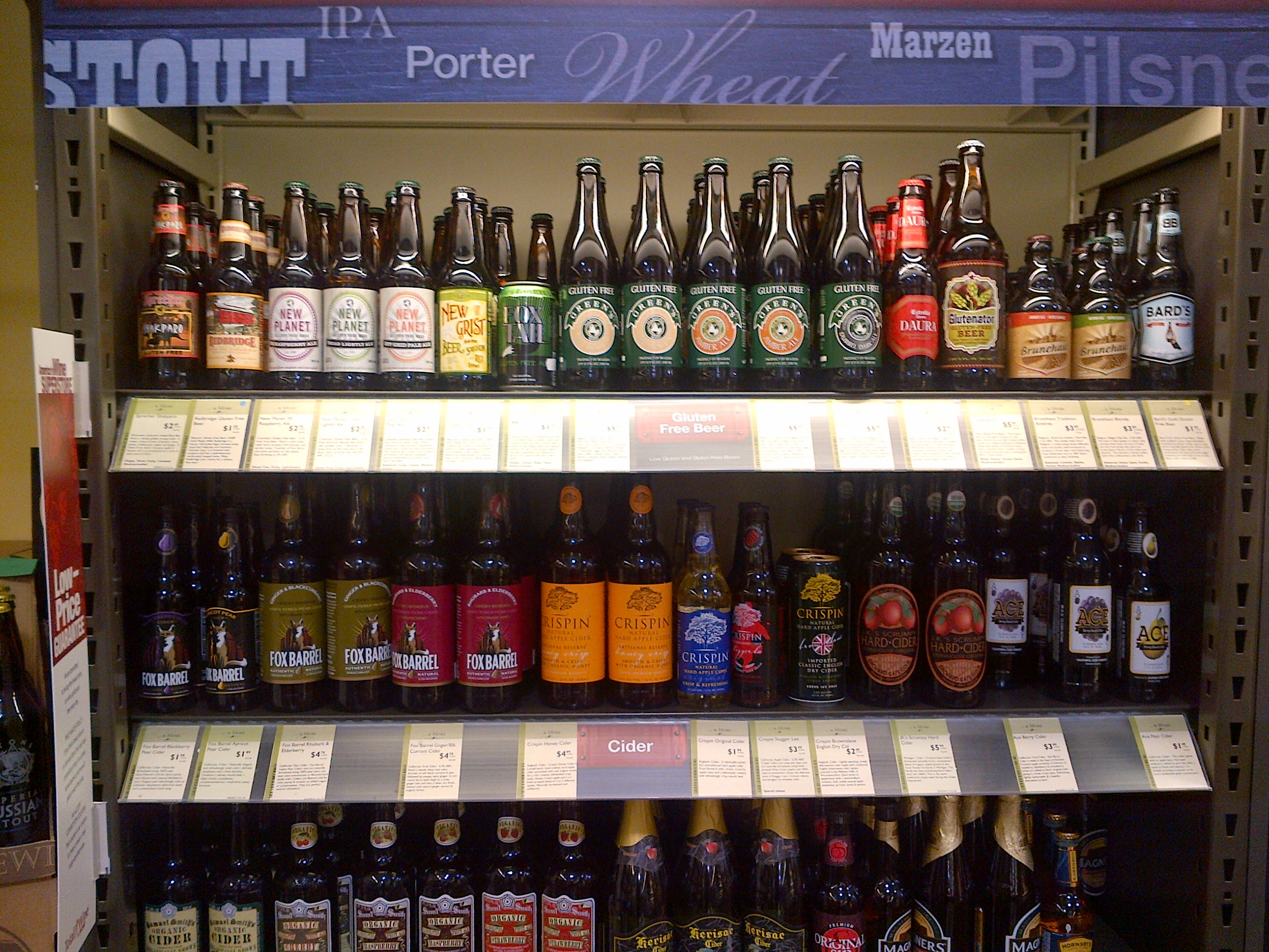 gluten free beer cider shelf total wines and more • # ...