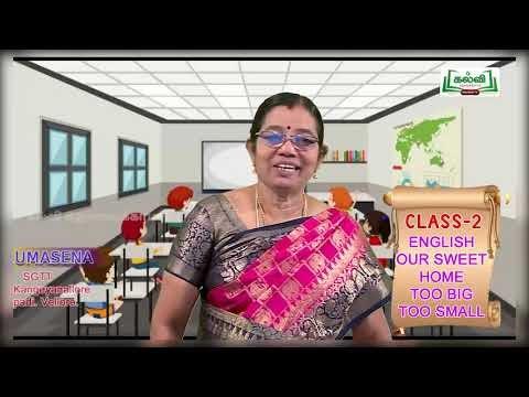 2nd English Our Sweet Home Term 1 Unit 1 Kalvi TV