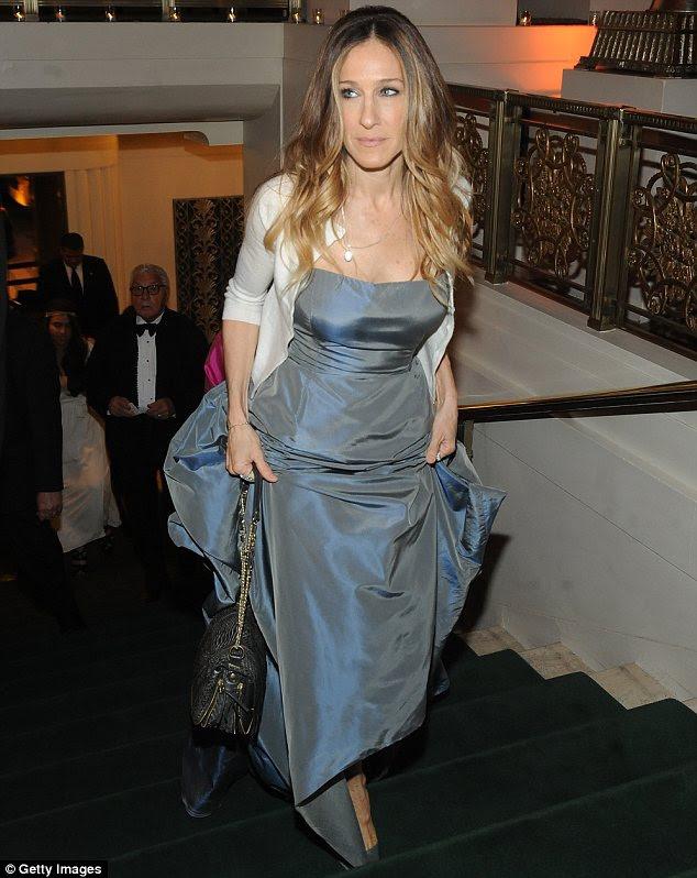 Estrela do show: Sarah Jessica Parker estava deslumbrante em azul na parte Medalha Carnegie Hall Of Excellence Gala em Nova York