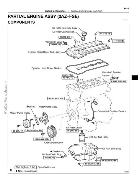 PDF ONLINE - Toyota 2AZ-FSE Engine Repair Manual (RM1083E)