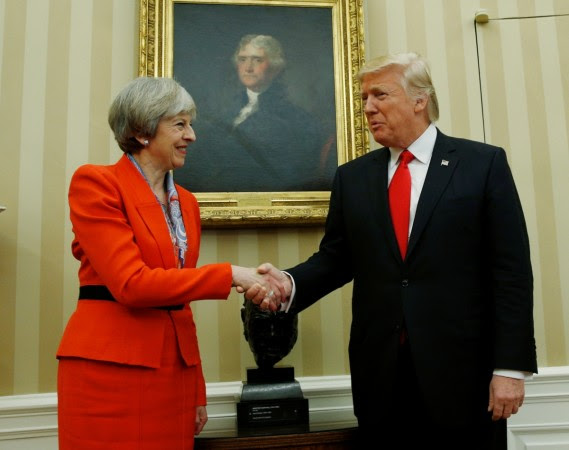 Image result for PM May and donald trump