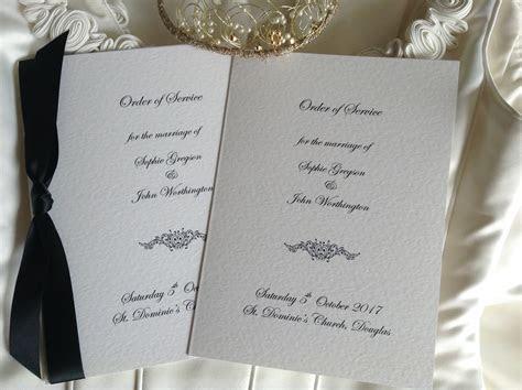 Motif Wedding Order of Service Books   Wedding Stationery