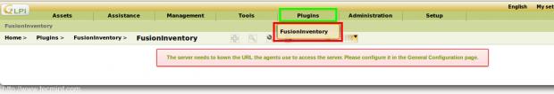 Fusion Inventory Plugin Error