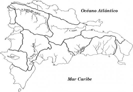 Mapa De Los Rios De La Republica Dominicana Para Pintar Y Colorear A