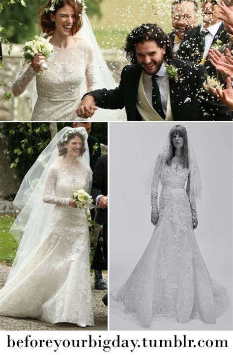 Rose Leslie?s Wedding Gown in 2019   Long Sleeve Gowns and