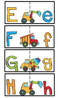 Preschool Printables: Alphabet cards matching upper and lower case ...