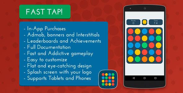 Fast Tap! - Admob + Leaderboards + IAP