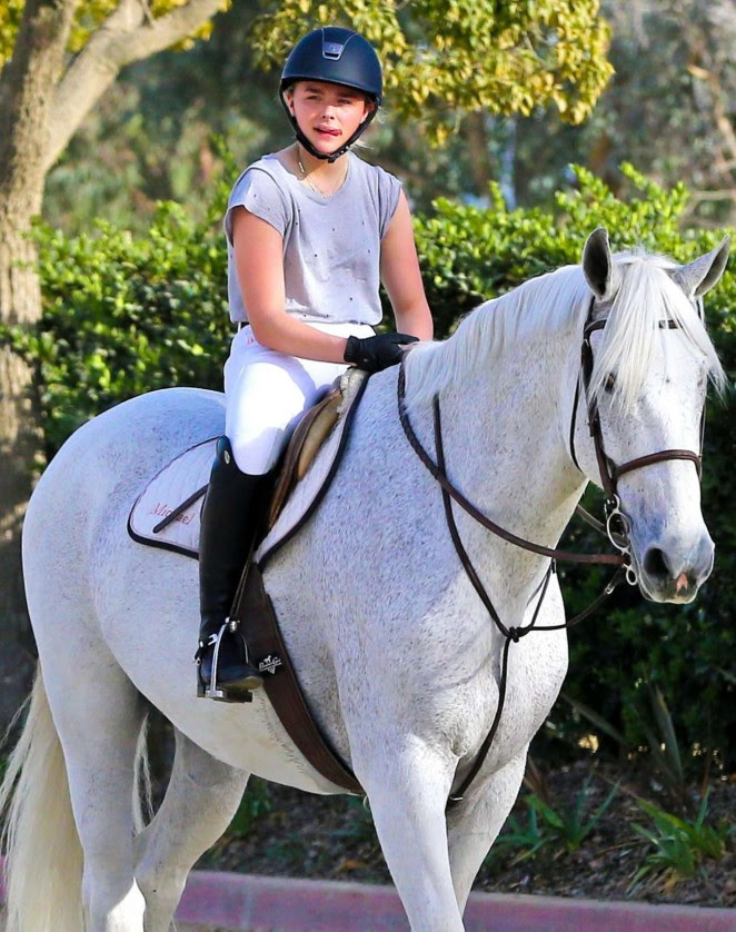 Chloe Moretz: Riding a Horse -23