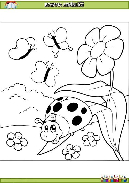Sevimli Uğur Böceği Boyama Etkinliği Meb Ders