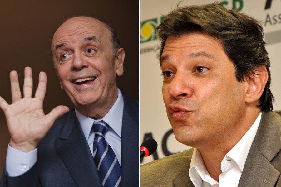 Serra e Haddad estão empatados em segundo lugar / Folhapress