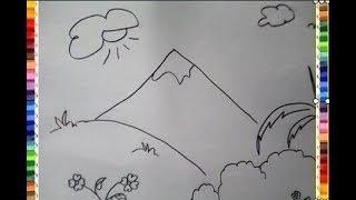 All Clip Of Mewarnai Pemandangan Gunung Bhclipcom
