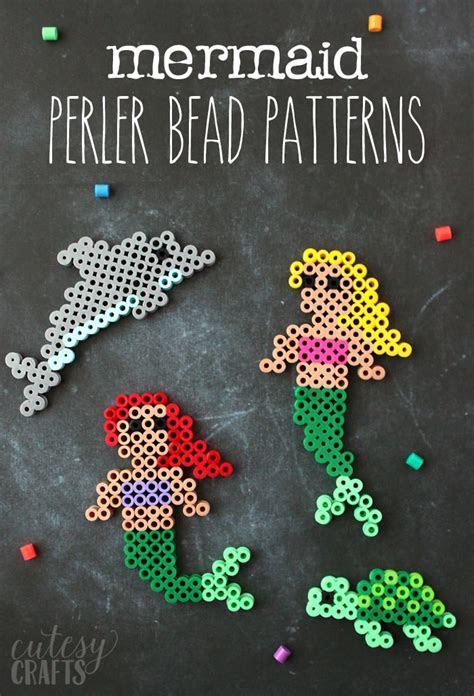 easy mermaid perler bead patterns cutesy crafts
