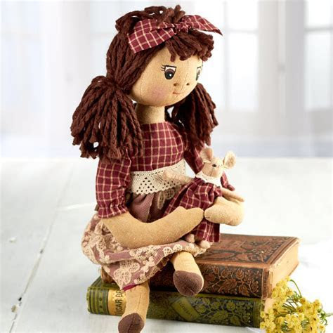 Primitive Clara Muslin Doll   Primitive Dolls   Primitive