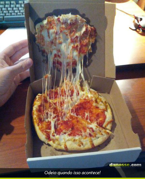 Pizza sem recheio!