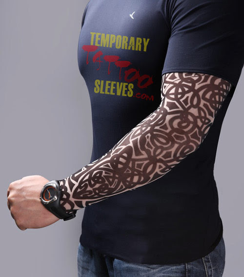 Removable Tattoo Sleeve The Celtic Classic Temporary Sleeve Tattoo