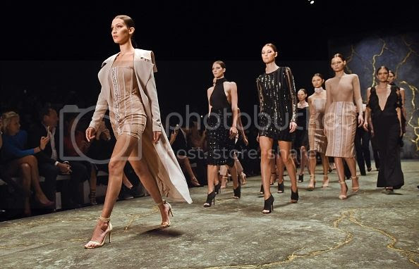 White Models Walking To Formation At Fashion Week Ticked