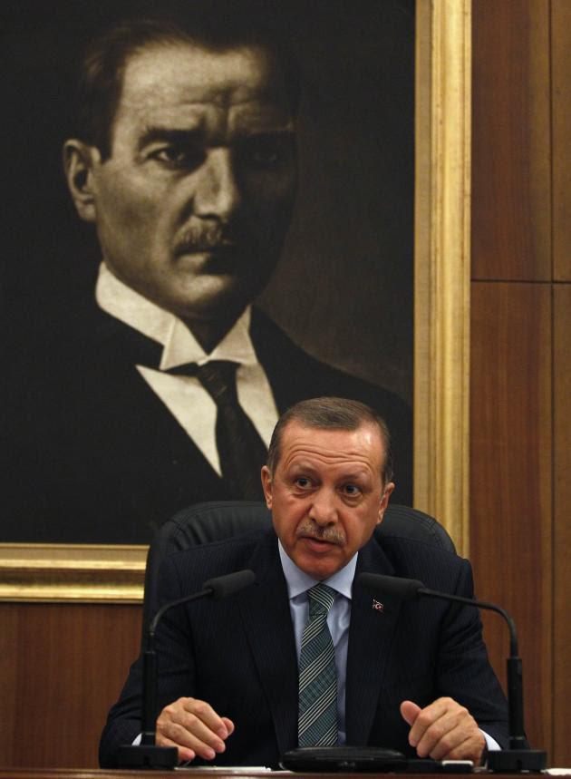 Ο Ερντογάν αντιμέτωπος με το τουρκικό πρόβλημα.