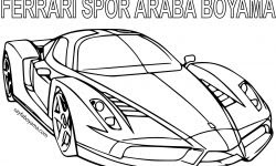 Ferrari Araba Boyama Gazetesujin