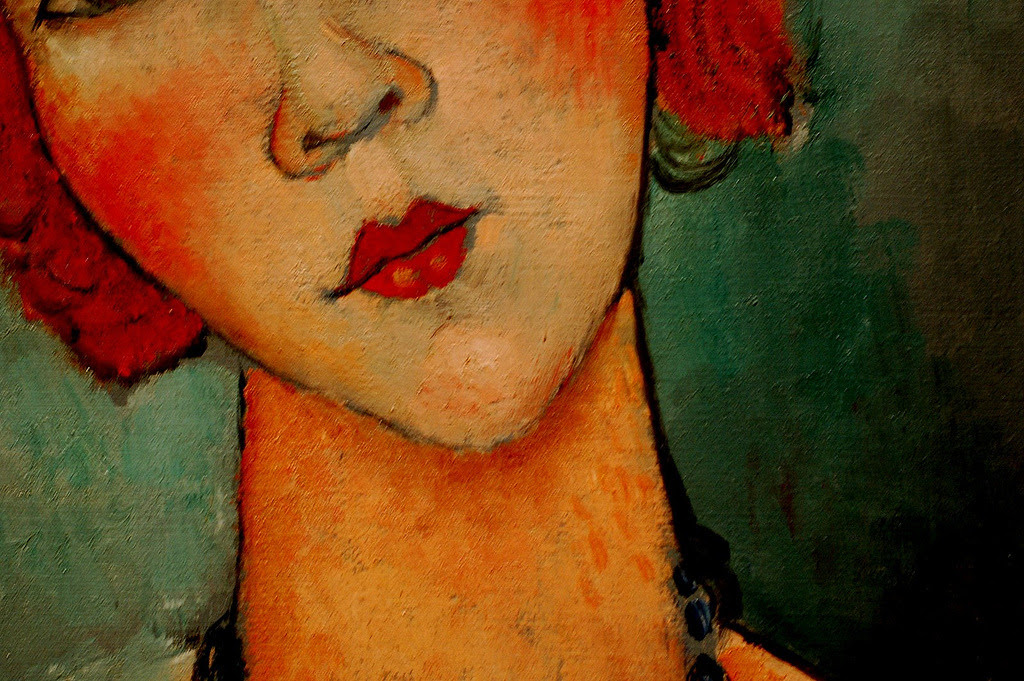Woman with a Necklace by Amedeo Modigliani (detail) (by *April*) Amedeo Clemente Modigliani (July 12, 1884 – January 24, 1920) was a Jewish-Italian painter and sculptor who pursued his career for the most part in France. Modigliani was born in Livorno, Italy and began his artistic studies in Italy before moving to Paris in 1906. Influenced by the artists in his circle of friends and associates, by a range of genres and movements, and by primitive art, Modigliani's oeuvre was nonetheless unique and idiosyncratic. He died in Paris of tubercular meningitis—exacerbated by a lifestyle of excess—at the age of 35.