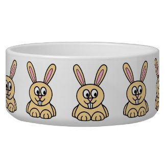 Cute Orange Bunny Rabbit Bowl