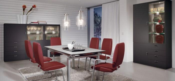 modern red dining furniture